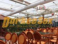 泉怡园农庄生态餐厅纤维织物空气分布系统