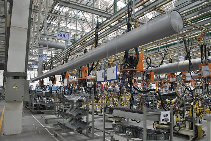 纤维织物风管高温车间生产线系列产品
